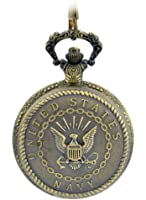 Dreamy USA Navy Classic Pocket Watch for Men and Women