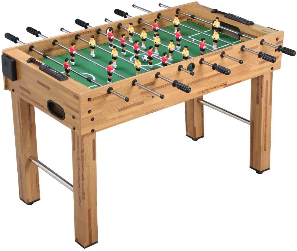 Amazon Com Yaheetech 48 Deluxe Foosball Table Soccer Arcade Game Table Soccer Table Game Room Football Table Sports Sports Outdoors