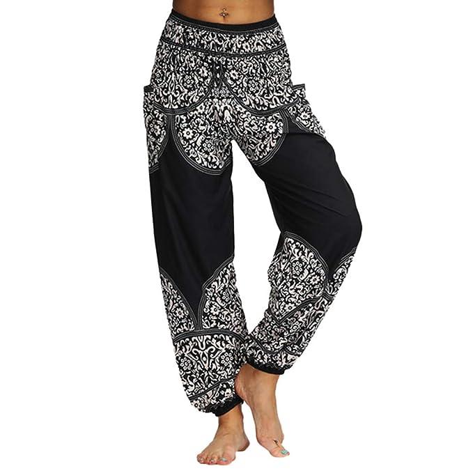 YanHoo - Pantalones Anchos de Hippy, Pantalones de Yoga ...