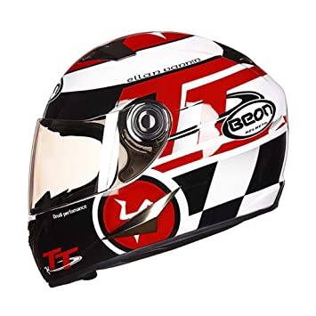 DGEG Casco de la motocicleta, Casco completo para adultos Casco de kart unisex Luz segura