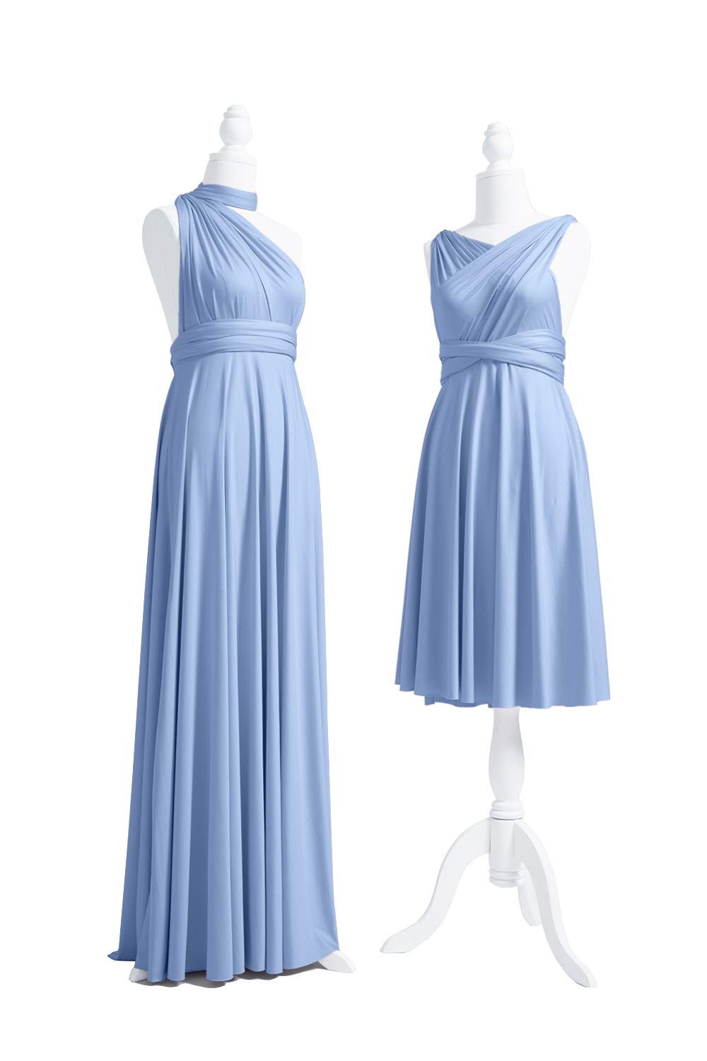 72STYLES Dusty Blue Infinity Dress with Bandeau, Convertible Dress,  Bridesmaid Dress, Long,Short, Plus Size, Multi-Way Dress, Twist Wrap Dress