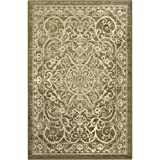 Maples Rugs Area Rugs - Pelham 7' x 10' Non Slip Large Rug [Made in USA] for Living Room, Bedroom, and Dining Room, Khaki