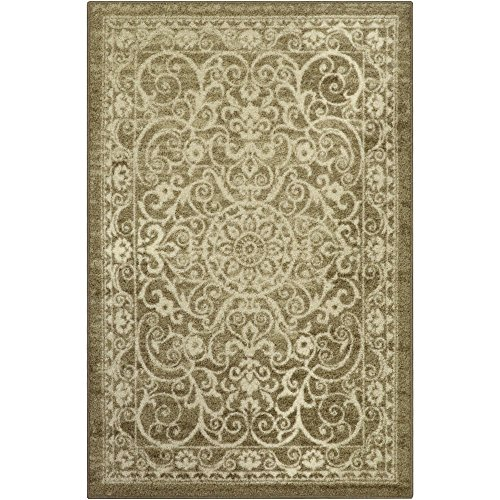 Maples Rugs Area Rugs - Pelham 7 x 10 Non Slip Large Rug [Made in USA] for Living Room, Bedroom, and Dining Room, Khaki