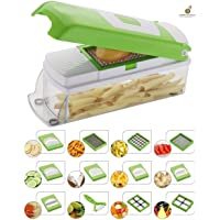 Amimart Multipurpose Vegetable and Fruit Chopper Cutter Grater Slicer (Multicolour)