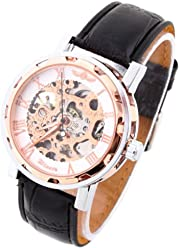Fashion Casual Watches Hardlex Winner Skeleton Wrist watch Analog Leather Band Stainless Steel Case mens watche