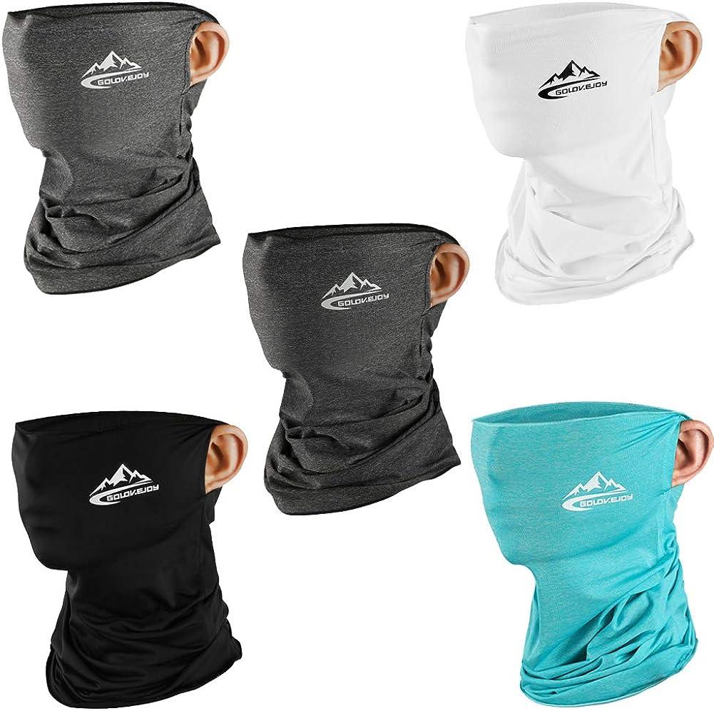 nobrand 3PCS Summer Neck Bandana UV Protection Neck Gaiter Windproof Scarf for Outdoor
