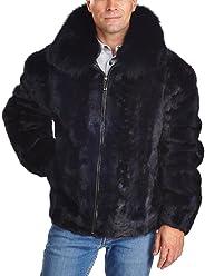 7f86e043516d Mosaic Mink Bomber Jacket for Men