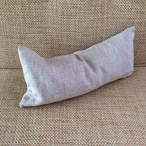 Pillowholic Organic Buckwheat small pillow in pure linen case Back neck pain relief Travel pillow 7x16