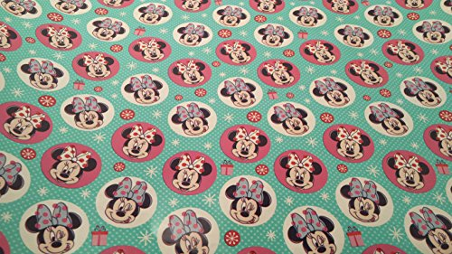 [Christmas Wrapping Minnie Mouse Boutique Holiday Paper Gift Greetings 1 Roll Design Festive Wrap Disney] (Homemade Disney Character Costumes)