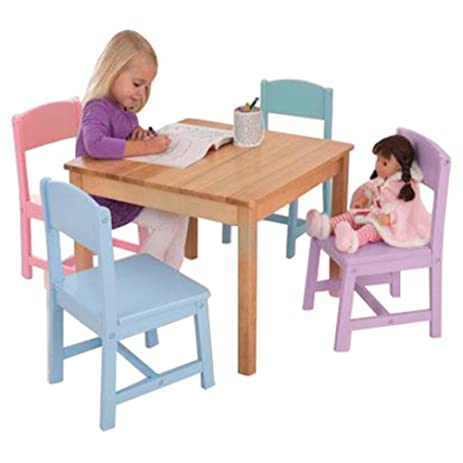 Amazon.com: KidKraft Seaside Kids\' 5 Piece Table and Chair Set, Kids ...