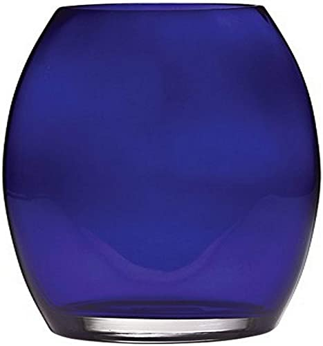 Glass Glass 10 Majestic Gifts European Handmade Oval Vase, Large, Cobalt Blue