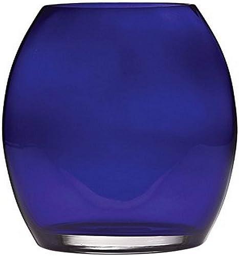 Glass Glass 12 Majestic Gifts European Handmade Oval Vase, X-Large, Cobalt Blue