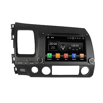 2din 8 Pulgadas Pantalla Táctil Capacitiva Coche Estéreo con GPS Navegación Android 8.0 OS para Honda