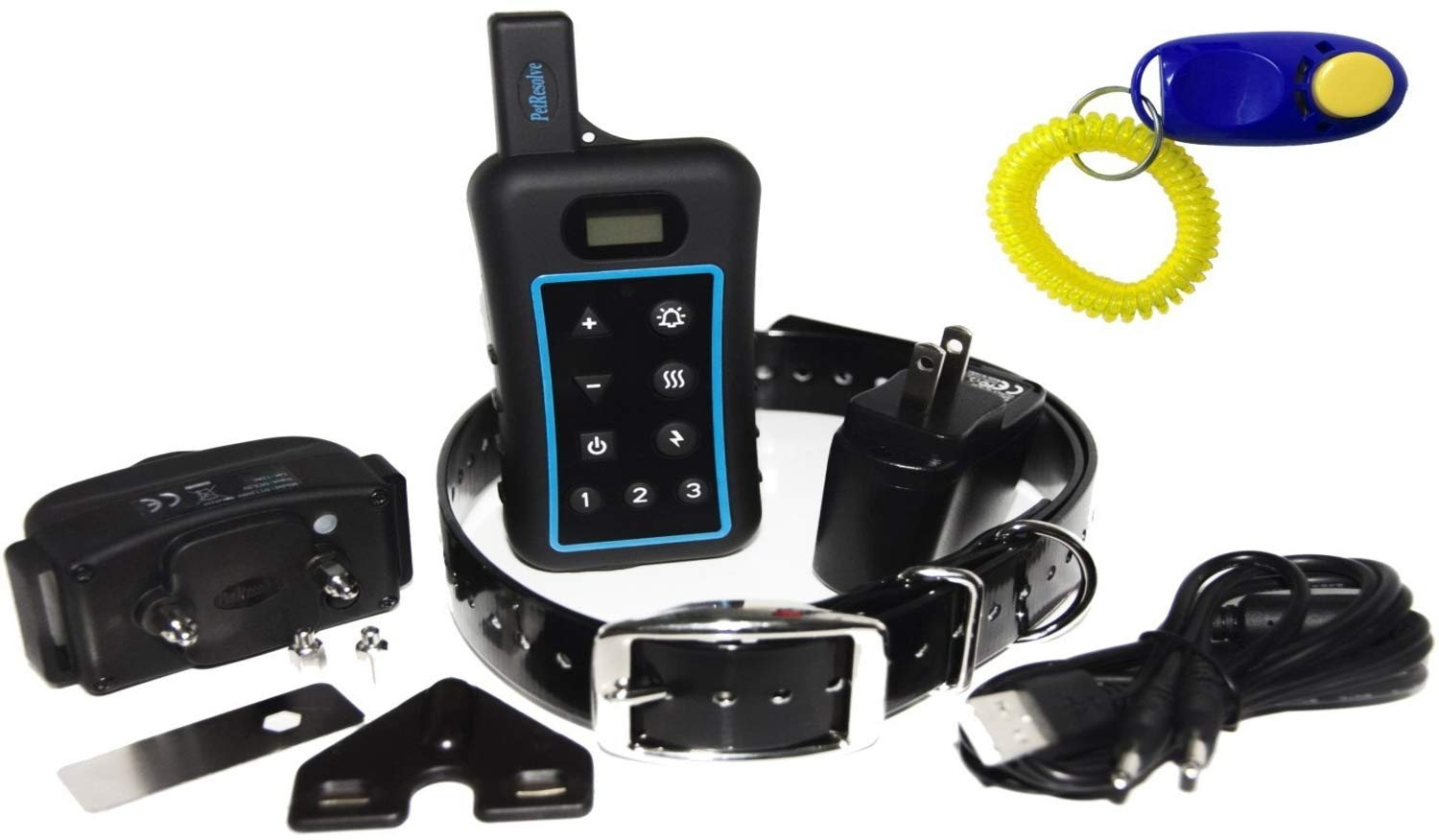 Pet Resolve Dog Training Collar with Remote - Trains up to 3 Dogs at Once - Shock, Vibration and Beep Modes - Up to 3/4 Mile Range - Waterproof Electric E Collar by Pet Resolve