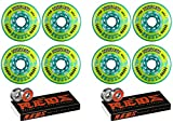 Revision Wheels Inline Roller Hockey Recoil 80mm 78A 8-Pack with Bones Bearings