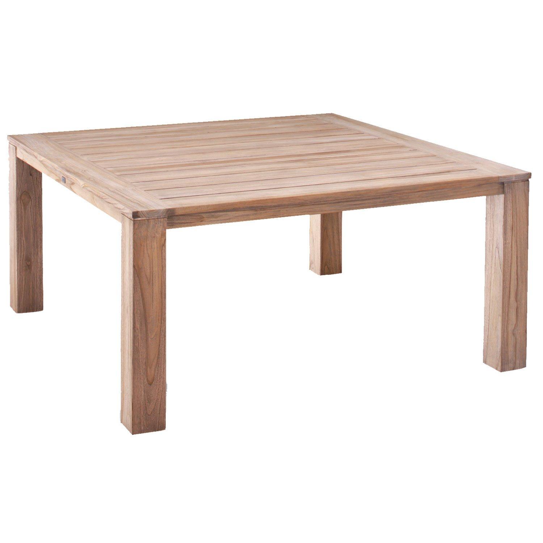 BEST 52356667 Teak-Tisch Moretti 160 x 160 cm, grau / wash
