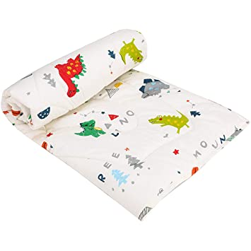 Soft Cot Comforter Crib Baby Quilts for Boys and Girls 33x42 Cotton 1 Pack Baby Blanket Cradle Quilt Nursery Bed Throw Blanket Bed Cover Lightweight Blanket UOMNY Baby Blanket Green Dot