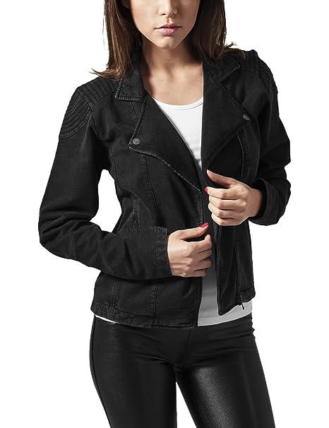 Urban Classics Ladies Acid Wash Terry Biker Jacket, Chaqueta para Mujer: Amazon.es: Ropa y accesorios