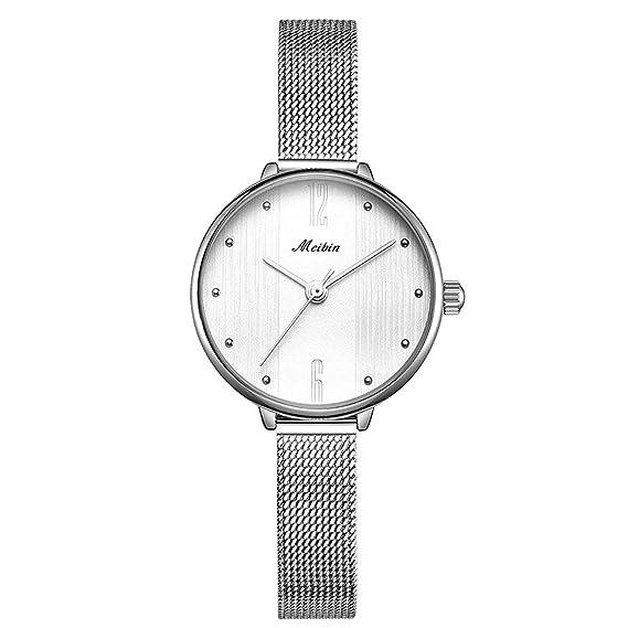 OLI Queen Reloj de Pulsera Mujer Reloj Acero Inoxidable ...