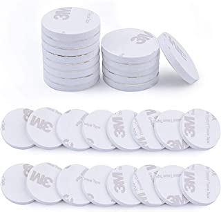 Strong Double Sided Sticky Pads,50pcs Round White Foam Pad Mounting Adhesive Sticky Pad(25mm)