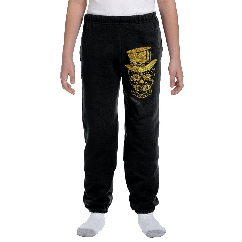 Gentleman Sugar Skull Fashion Durable Unisex Sweatpants For Youngsters