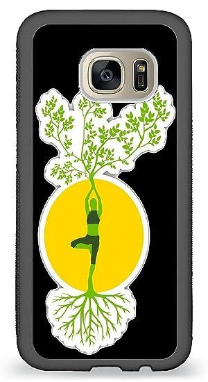 JiorJfe Custom Samsung_Galaxy_S7 Case,Yoga Nature Tree Hard ...