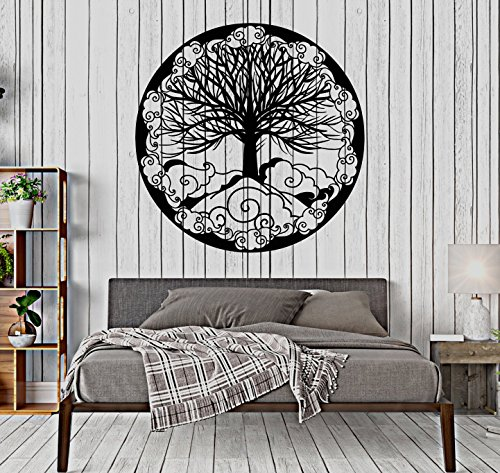 Ornament Fantasy - Vinyl Wall Decal Tree Of Life Family Symbol Ornament Fantasy Stickers Large Decor (1481ig)
