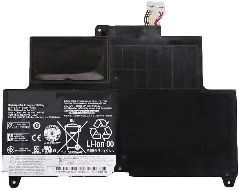 Batterymarket New 14.8V 43Wh Replacement Lapotp Battery Compatible with Lenovo ThinkPad S230u ThinkPad S230u Twist ThinkPad Edge S230u ASM P/N 45N1092 FRU P/N 45N1093 45N1094 45N1095 4ICP5/42/61-2