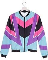 Women Bomber Jacket Printing 90s Chaquetas Mujer Fashion Slim Outwear Women Jackets Basic Coats