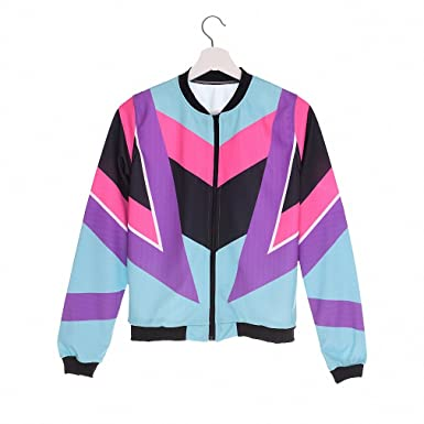 Women Bomber Jacket Printing 90s Chaquetas Mujer Fashion Slim Outwear Women Jackets Basic Coats jka36057 One
