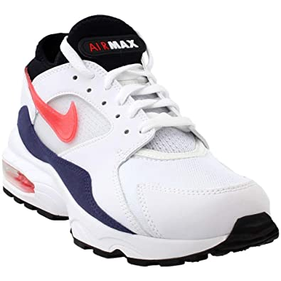 low priced 87036 8b983 NIKE Mens Air Max 93 Running Shoe WhiteHabanero Red (13 D(M