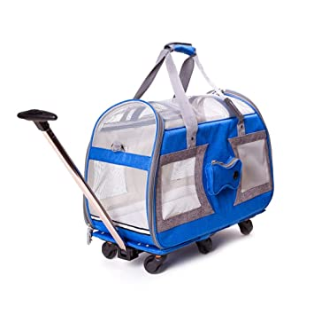 Mochila Para Mascotas, Bolsa De Viaje Pequeñas Mascotas Maletín De Carro Portador Plegable Mochila Maleta