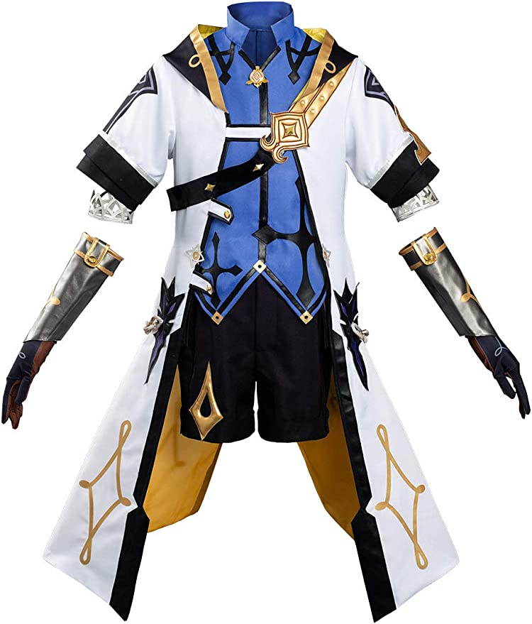 Game Genshin Impact VENTI Cosplay Costume Outfit Uniform Cape Hat Full Set