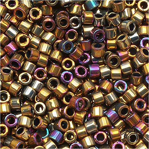 Miyuki Delica Seed Beads 11/0 METTALIC PURPLE GOLD IRIS 7.2 Gram DB029