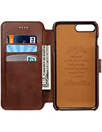 leather iPhone case Wallet Phone Case Credit Card Slot Holder Flip Cover