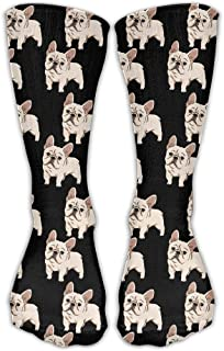 UFHRREEUR DaCrew French Bulldog Unisex Novelty Crew Socks Ankle Dress Socks Fits Shoe Size 6-10