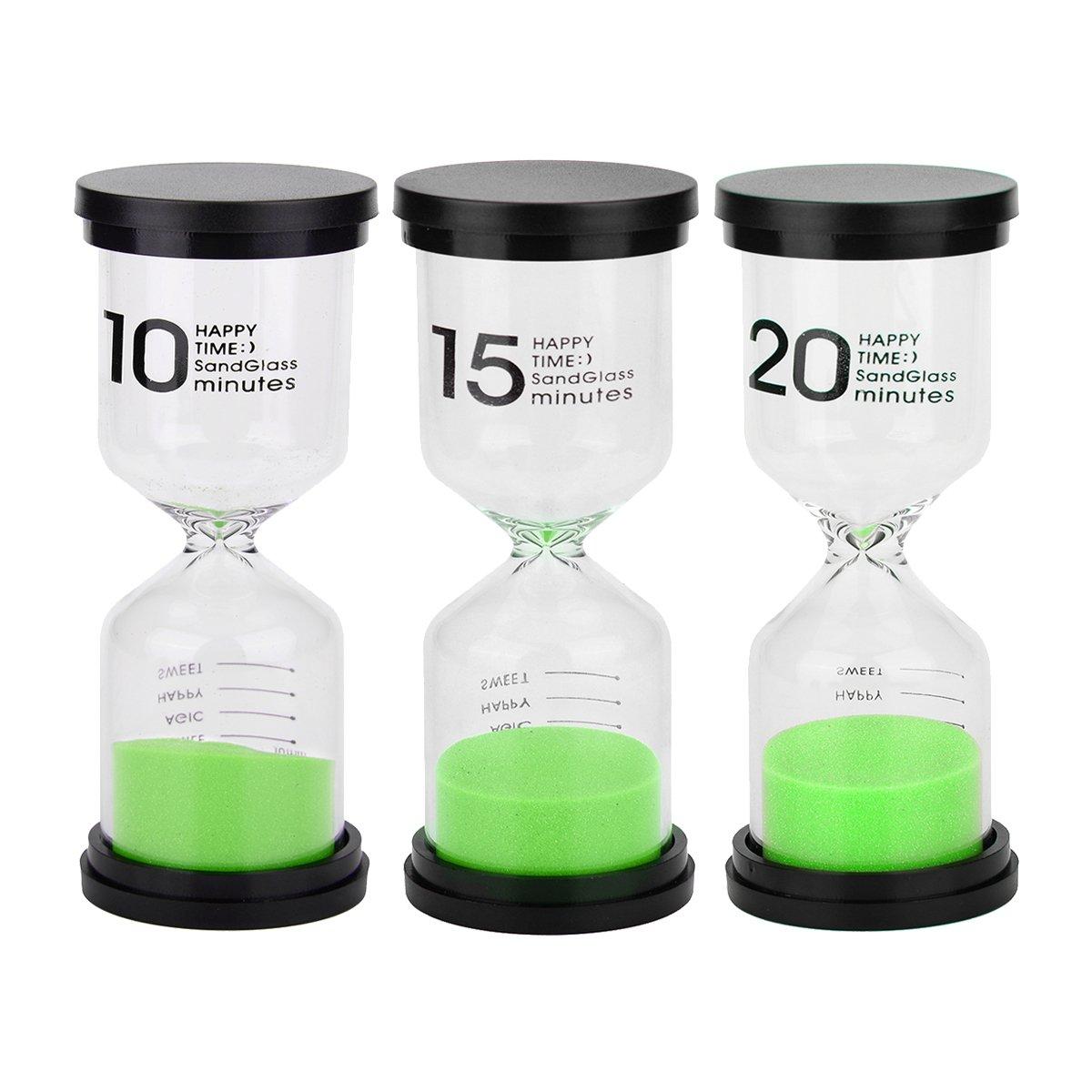 3PCS/Set Sand Timer Hourglass Sandglass Sand Clock Timer 10Mins / 15Mins / 20Mins