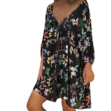 2b6d42b628c0 Amazon.com: Woaills-Tops 2018 New!!Long Sleeve V-Neck Maxi Dress ...