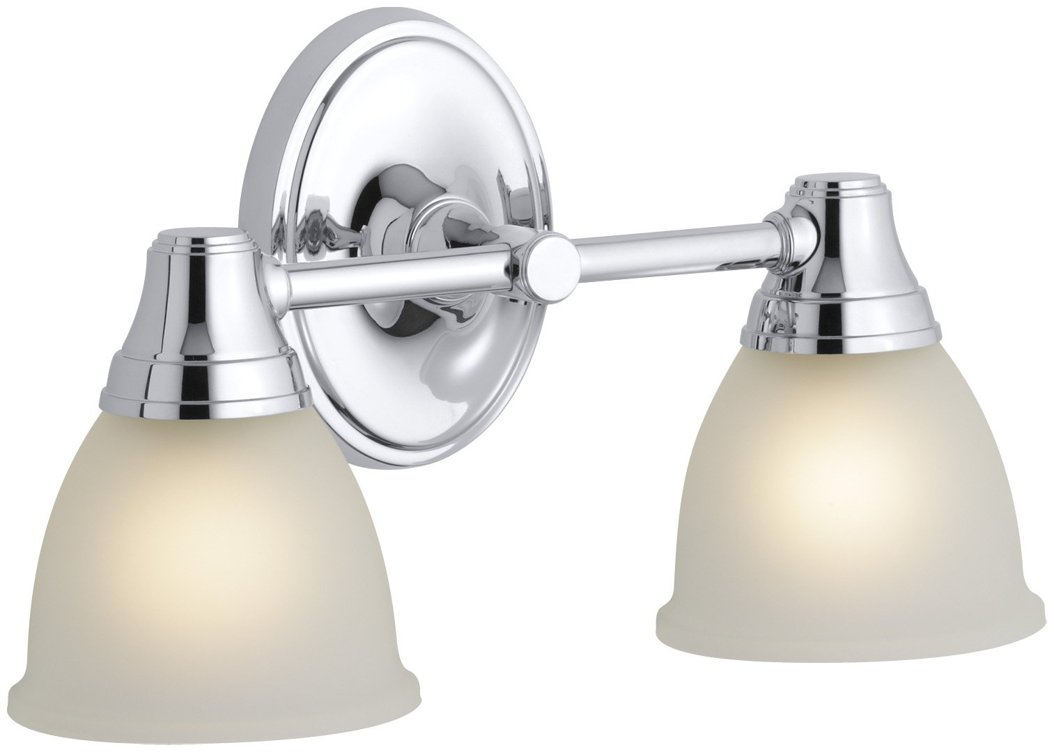 KOHLER K-11366-CP Transitional Double Wall Sconce for Forte Faucet Line, Polished Chrome