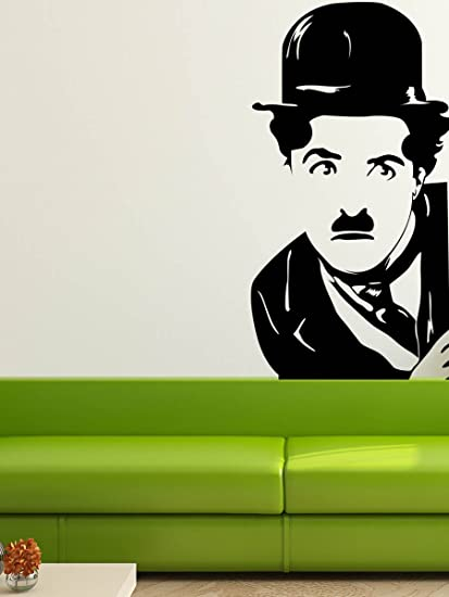 Trends on Wall Charlie Chaplin Wall Decal, (60 cm x 117 cm)