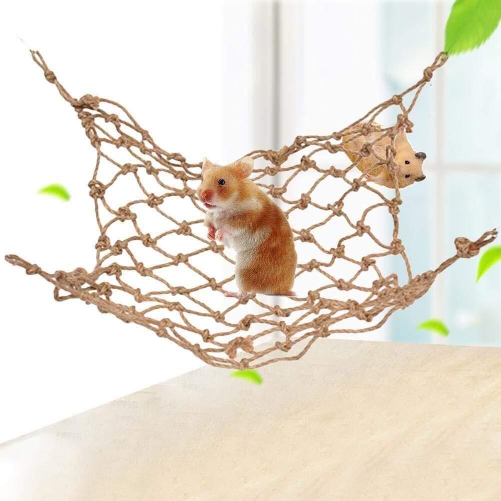 KTYXDE Hamster Toy Net, Parrot Crawling Bird Ladder Toy Rope Net, Small Animal Climbing Net (Size : L) by KTYXDE
