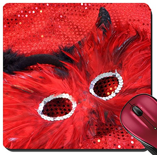 Liili Suqare Mousepad 8x8 Inch Mouse Pads/Mat glamorous cotume with sequins and feathers appropriate for halloween or a masquerade IMAGE ID 3256944
