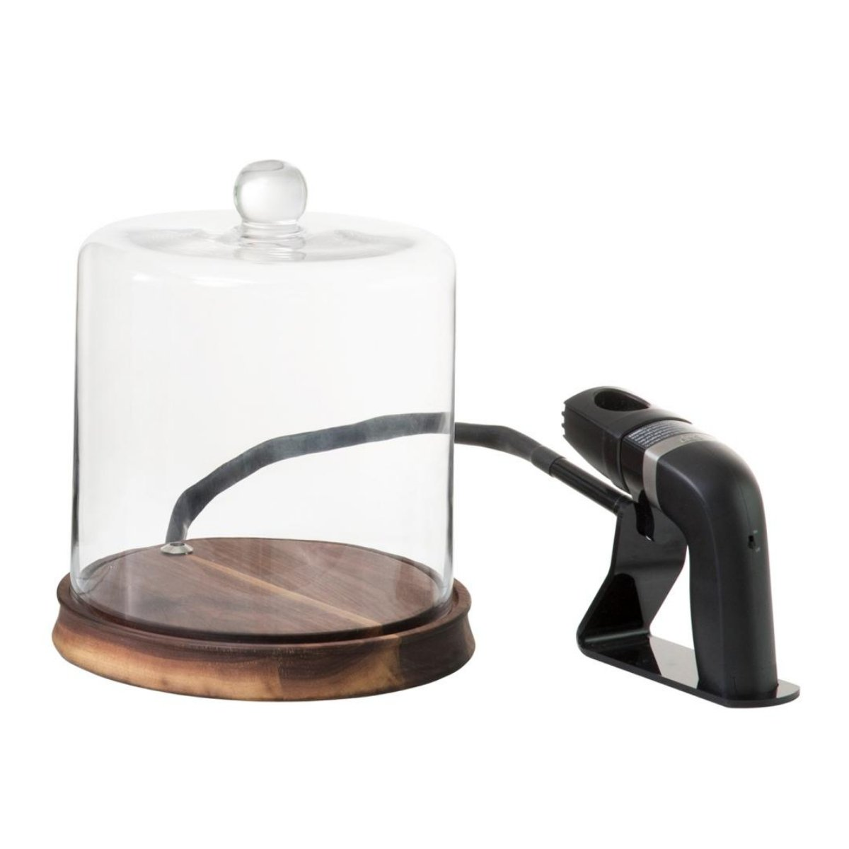 Crafthouse by Fortessa Glass Smoking Cloche with Smoke Infusing Gun and Breville The Smoking Gun Pro 4 Piece Woodchip Set