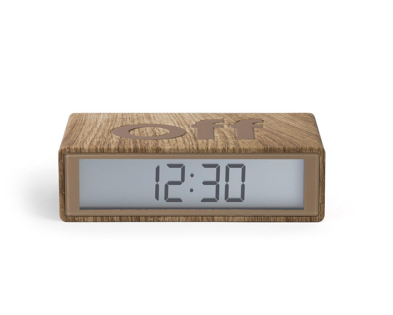 Lexon Flip On/Off Alarm Clock (Light Wood) by Lexon (Image #2)