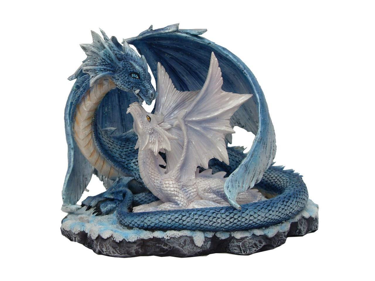 Figura de dragón madre con dragón bebé