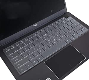 "CaseBuy Keyboard Cover for 2019 Dell Inspiron 2-in-1 13.3"" 7390 i7390 i7391 Laptop, Ultra Thin Soft-Touch TPU Keyboard Skin for New Dell Inspiron 13 7000 7390 7391 13.3 inch Laptop"