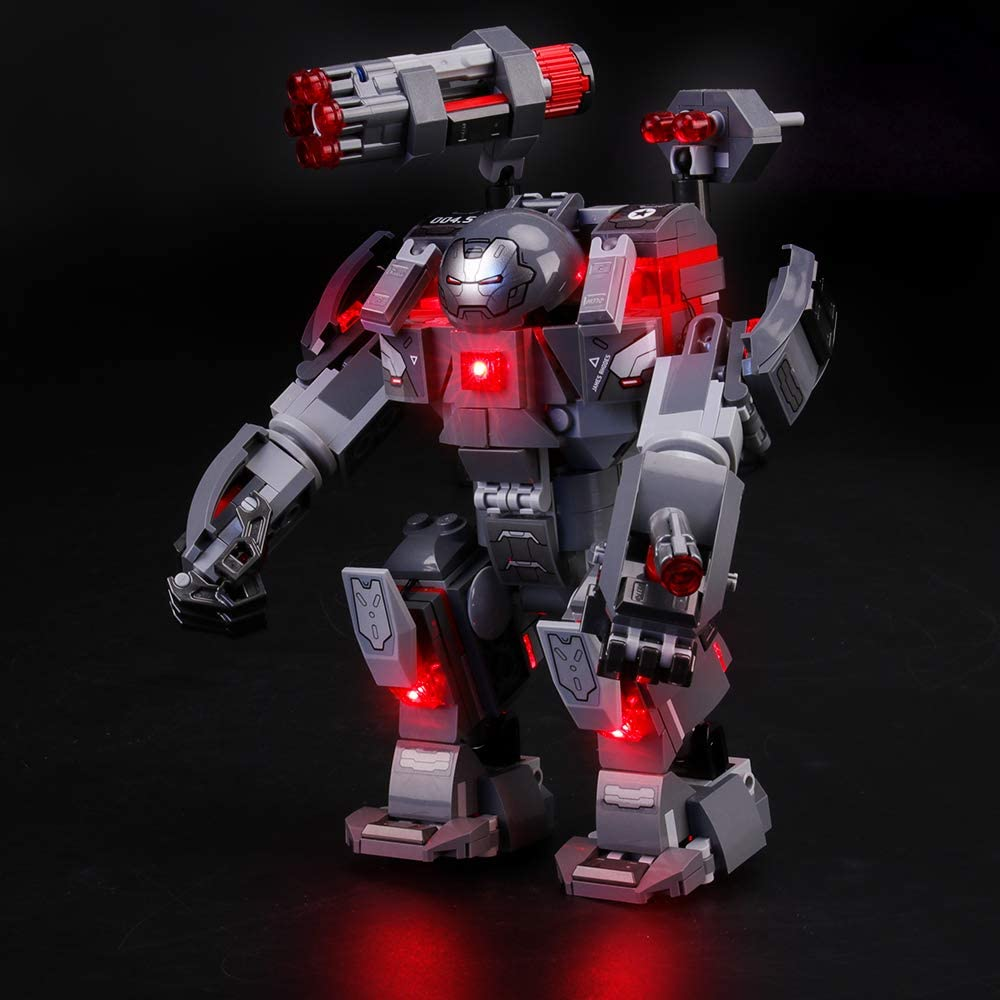 LIGHTAILING Light Set for Building Blocks Model NOT Included The Model Led Light kit Compatible with Lego 76124 Marvel Avengers War Machine Buster