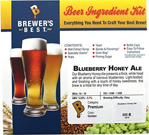 Brewer's Best Home Brew Beer Ingredient Kit-5 gallon (Blueberry Honey Ale) by Brewer's Best