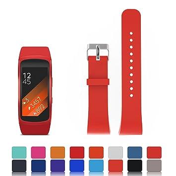Feskio - Correa de silicona suave para reloj inteligente Samsung Gear Fit 2 SM-R360 (tamaño pequeño o grande): Amazon.es: Deportes y aire libre