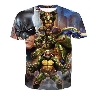 Hojoo Camiseta Unisex Camiseta Estampada 3D T-Shirt Hombres ...